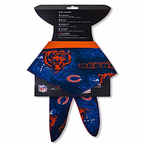 In Dog We Trust 11 to 20-Pound Dogs Chicago Bears Bandana, Small