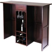 Winsome Wood Newport Expandable Entertainment Wine Bar, Walnut