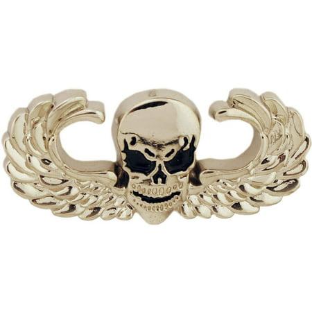 Winged Skull Pin 1 3/8