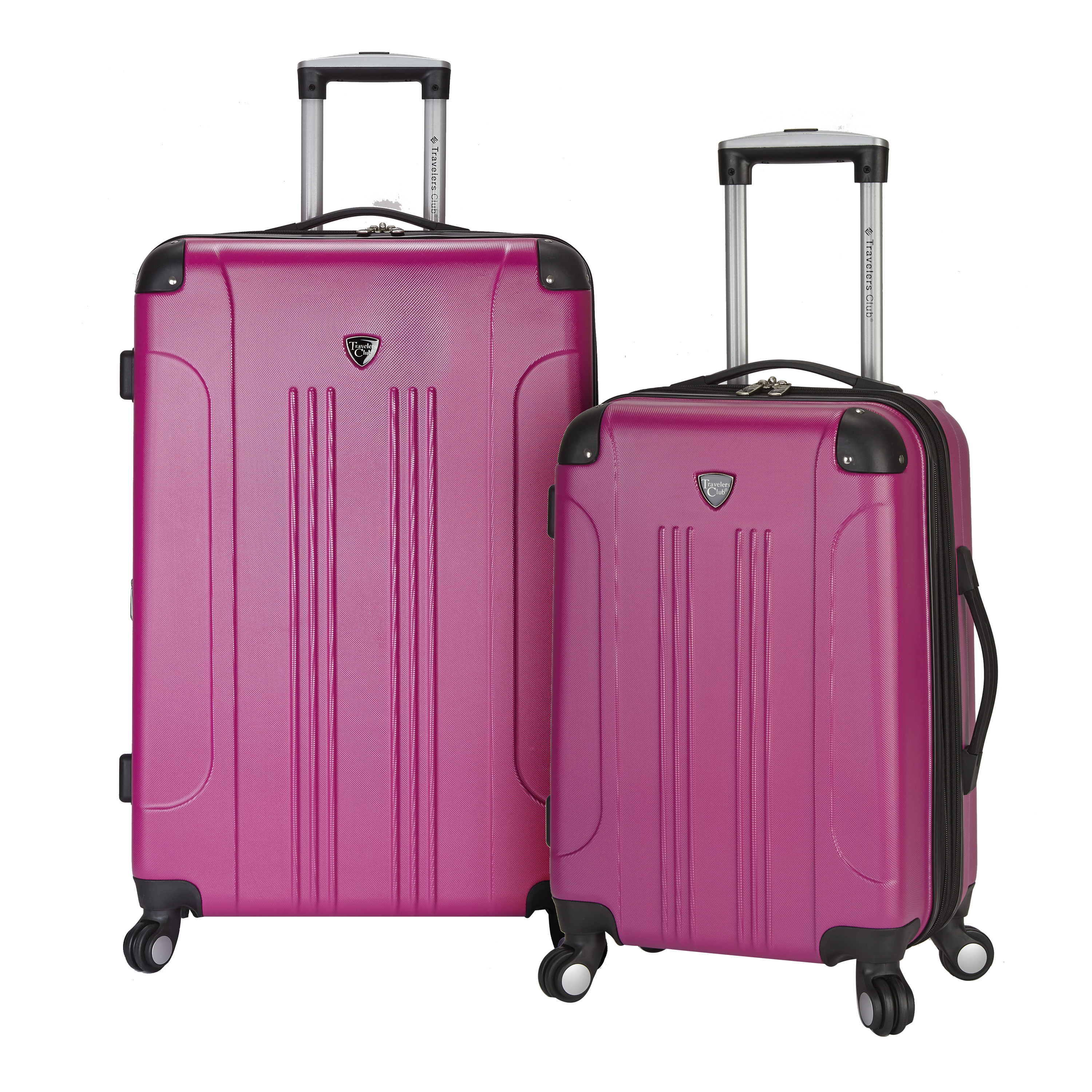 Travelers Club 2 pc. Expandable Hard-Sided Rolling Upright Set - Silver