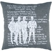 Room with a View Grey Cotton Rockers Feather-filled Throw Pillow