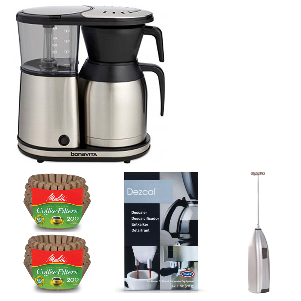 Bonavita 8 Cup Coffee Maker With Thermal Carafe and Accessory Bundle