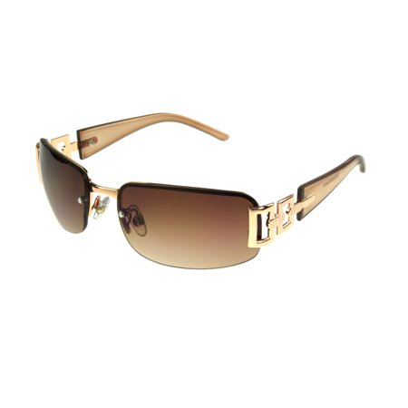 Cream Womens Sunglasses - Foster Grant Women's Rose Gold Rectangle Sunglasses H02