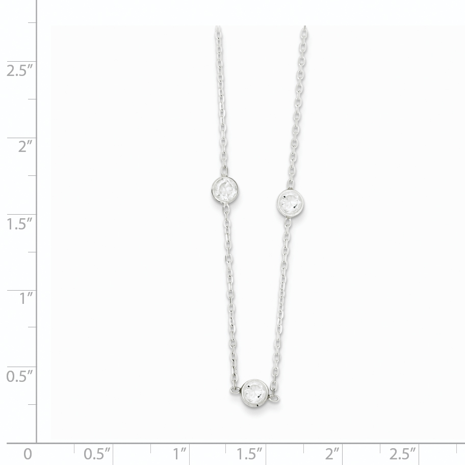 925 Sterling Silver Cubic Zirconia Cz Extension Chain Necklace Pendant Charm Fine Jewelry Gifts For Women For Her - image 1 de 3