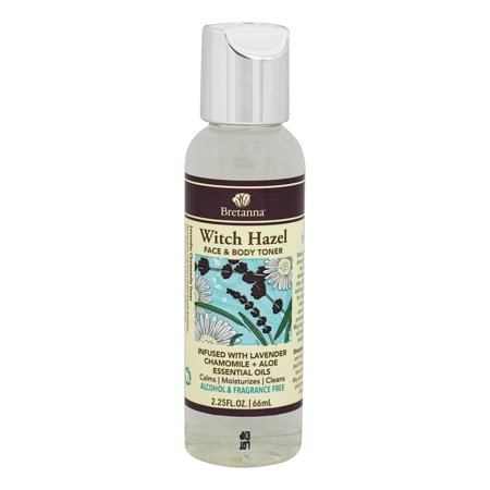 Bretanna - Witch Hazel Face & Body Toner Infused with Lavender Chamomile + Aloe Essential Oils - 2.25 fl.