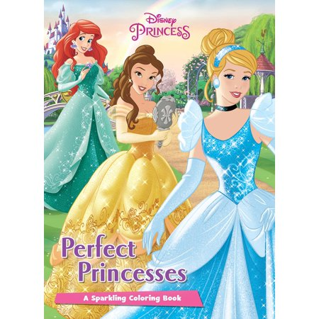 Color It!: Disney Princess Perfect Princesses: A Sparkling Coloring Book (Paperback) - Printable Disney Princess Halloween Coloring Pages