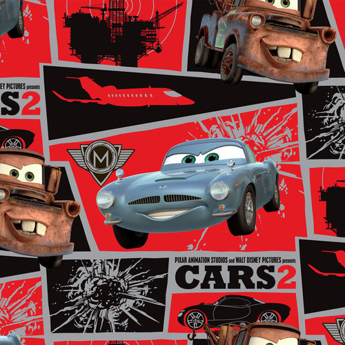 Springs Creative Disney Cars Matter Mission Block Fabric By The Yard