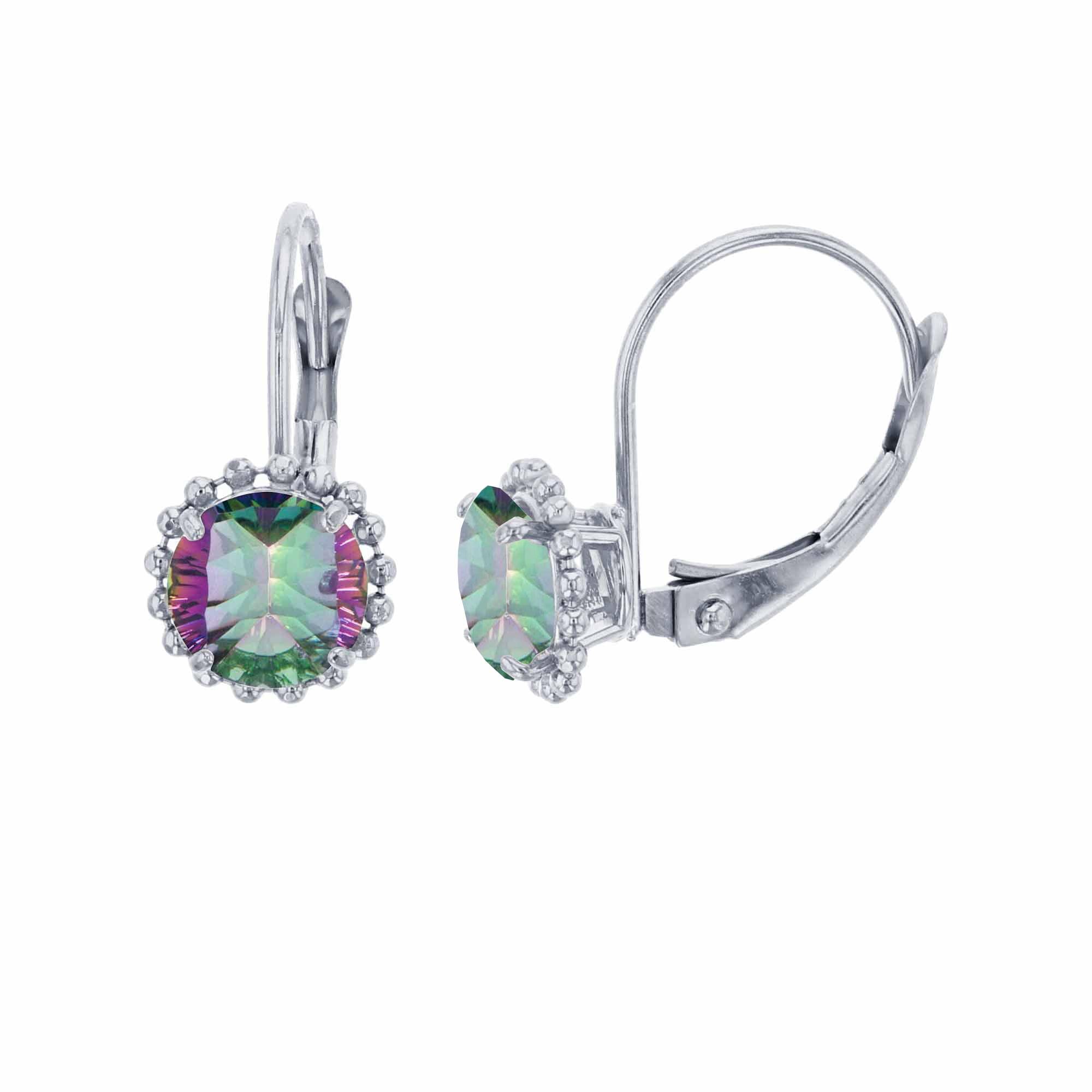 1.50 Ct Round 6mm Genuine Green Emerald 10k Yellow Gold Stud Women/'s Earrings