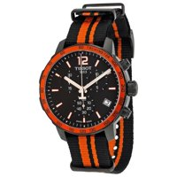 Tissot Quickster Chronograph Black Dial Synthetic Nylon Men's Sports Watch (T0954173705700)