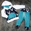 Newborn Kids Toddler Baby Boy Girl Deer Hooded Tops Hoodie +Pants Outfits Set Clothes 0-5T