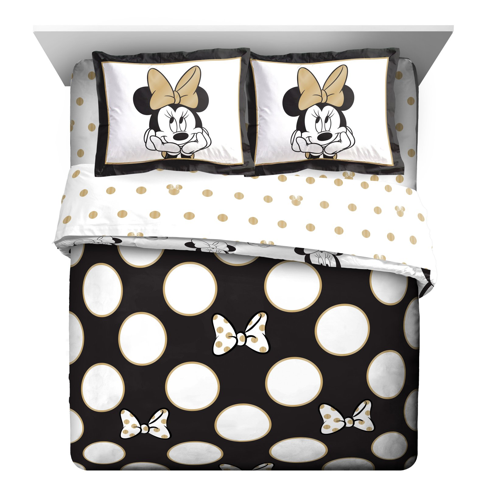 Minnie Mouse Reversible Full Queen Comforter Set By Disney Walmart Com Walmart Com