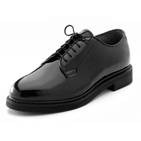 Four Crown Oxford - Rothco 5055 Men's Black High-Gloss Uniform Oxford Shoe