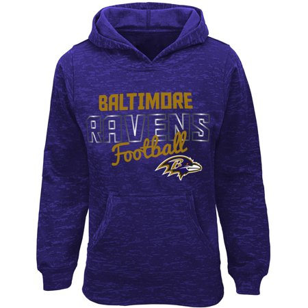 NFL Girls Ravens Burnout Team Hooded Fleece - Raven Without Hood