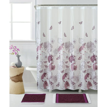 Discontinued vcny home nature inspired lily 15 piece Nature inspired shower curtains