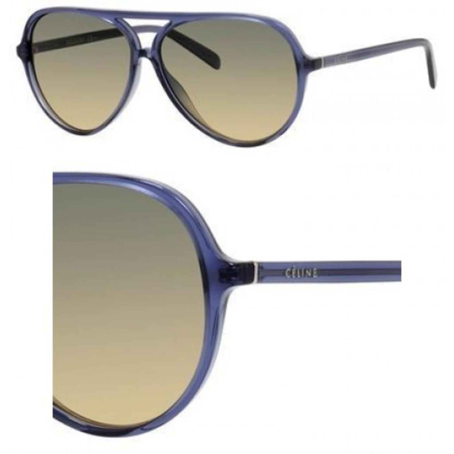Celine CL41069-BMPBW-58 Women's Aviator Blue Translucent Sun