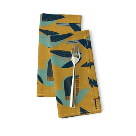 Retro Mod Mid Century Modern 1950S Cotton Dinner Napkins by Roostery Set of 2