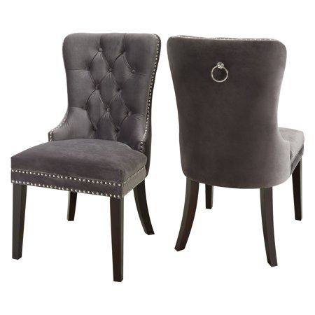 Meridian Furniture Inc Nikki Velvet Dining Chair - Set of 2 ()