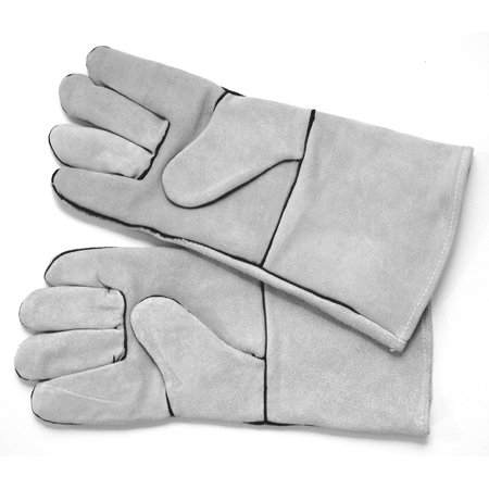 Hot Max 22050 Gray Leather Lined Welding Gloves with Kevlar