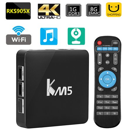 4K Smart Tv Box 1 8G Android 6 0 Smart Tv Box Fully Loaded For Amlogic S905x Quad Core Wifi