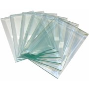 School Specialty Glass Rectangle Bevel, 4 x 6 in, Clear, Set of 6