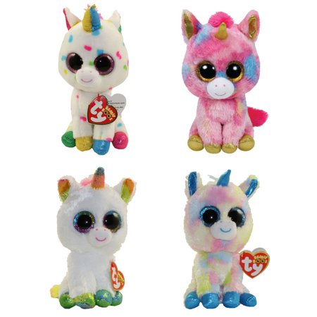 b1869793d37 TY Beanie Boos - SET OF 4 UNICORNS (Fantasia