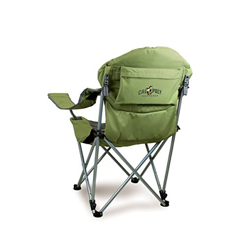 Click here to buy Reclining Camp Chair -Sage Green (Cal Poly) Digital Print by Picnic Time.