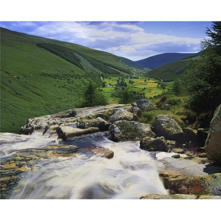 Glenmacnass County Wicklow Ireland - River Flowing Through Valley Poster Print by The Irish Image Collection, 17 x 13 - image 1 de 1