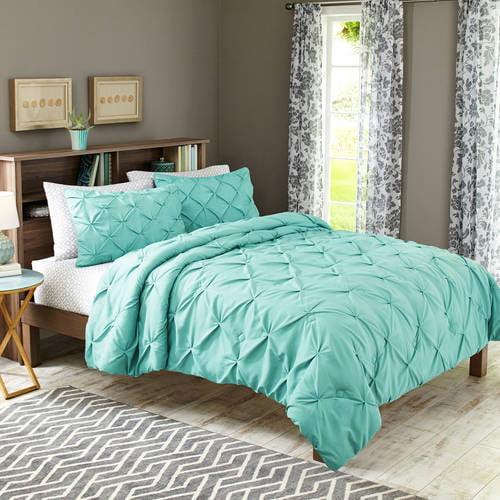 Better Homes & Gardens Twin Pintucked Comforter Set, 3
