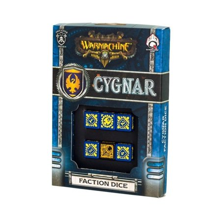 Q-Workshop Warmachine Cygnar Faction Dice Set (6 Piece Set)