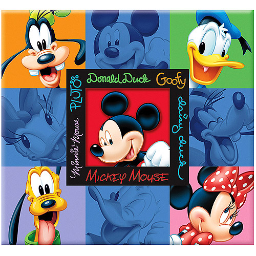 "Disney Embossed Postbound Album 12""X12""-Mickey & Friends"