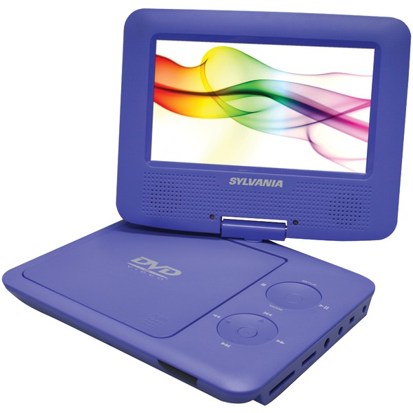 SYLVANIA SDVD7027 PURPLE 7 Inch. Swivel-Screen Portable DVD Player (Purple)