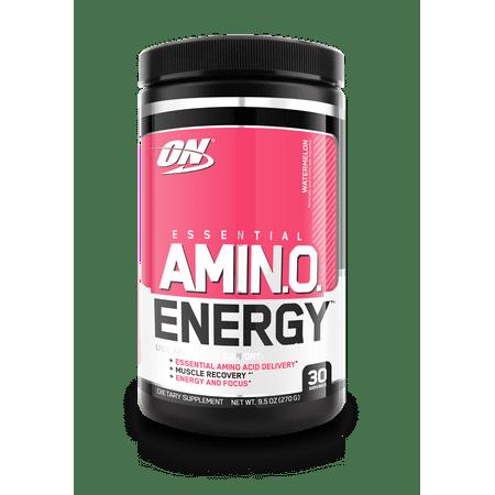 Optimum Nutrition Amino Energy Pre Workout + Essential Amino Acids Powder, Watermelon, 30