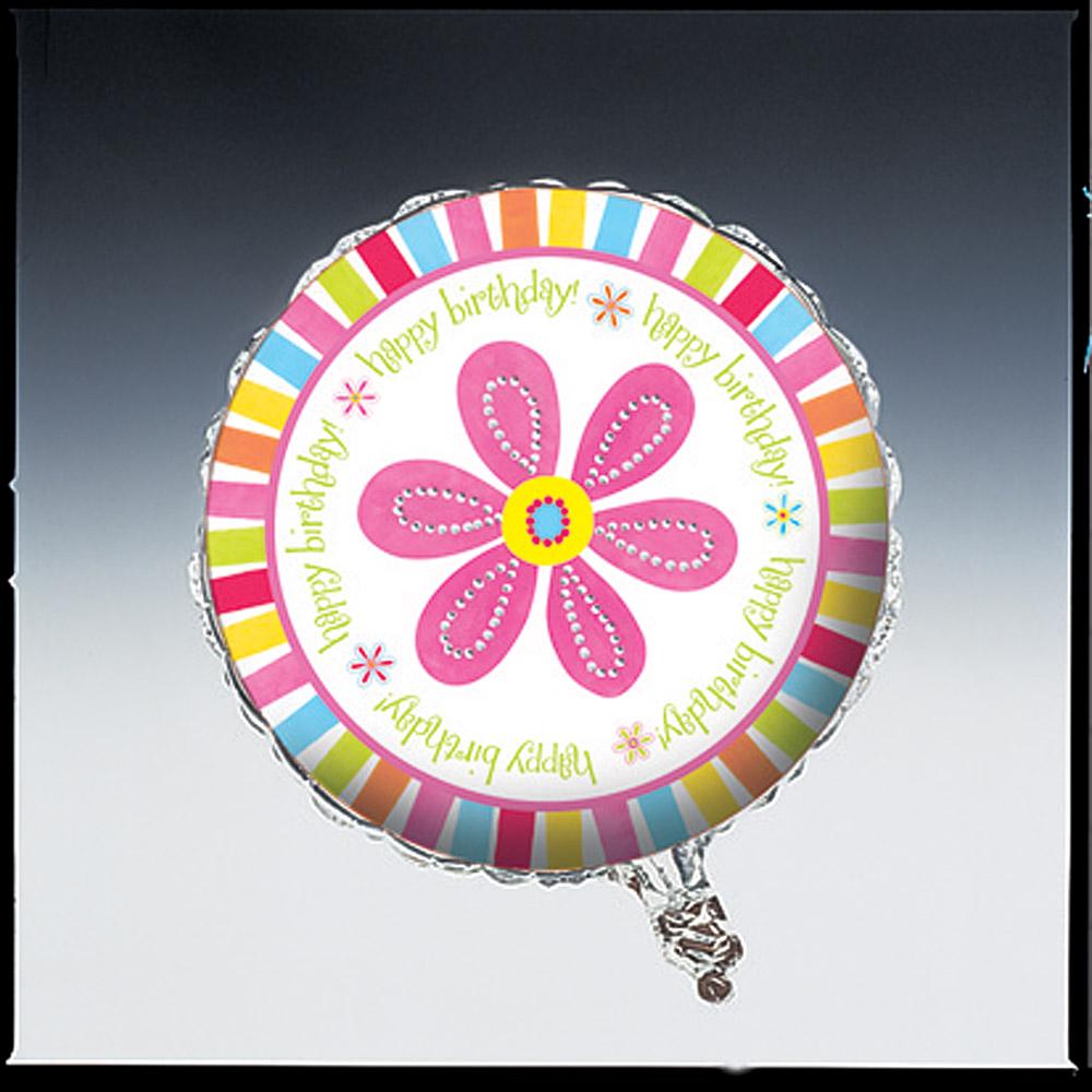 "18"" Foil Helium Metallic Balloon Pink Flower Cheer"