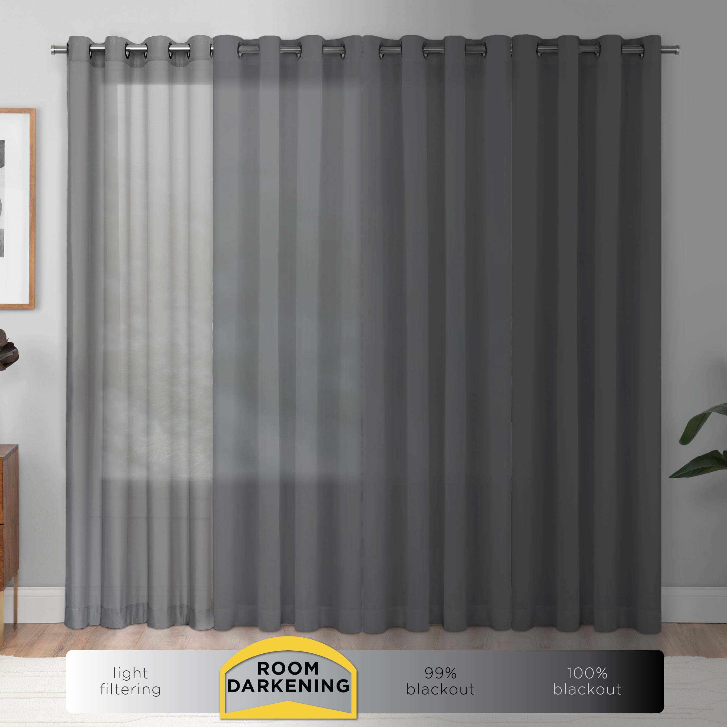 Mainstays Room Darkening Solid Woven Curtain Panel Pair Walmart Com Walmart Com