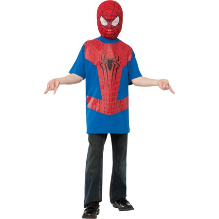 Boys Spiderman The Amazing Spider-Man T-Shirt And Mask Costume - Amazing Spiderman Costume