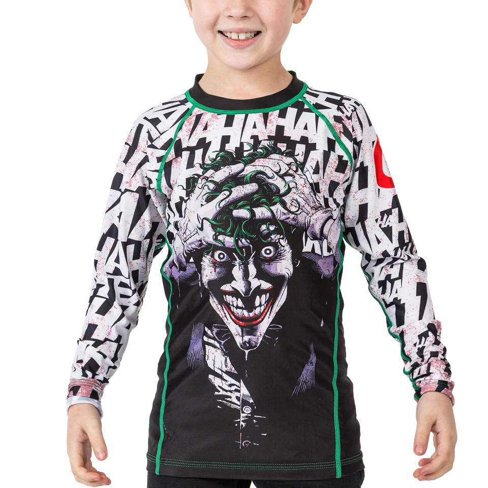 Fusion Wonder Woman Kids Rash Guard Compression Shirt Long Sleeve