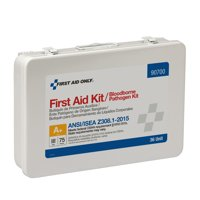 First Aid Only 146 Piece Metal First Aid Kit with BBP Pack, ANSI Compliant