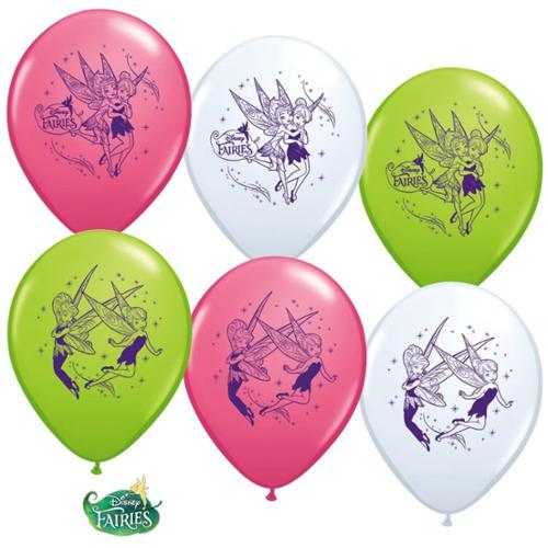 """Tinkerbell 12"""" Latex Balloons (6 Pack) - Party Supplies"""