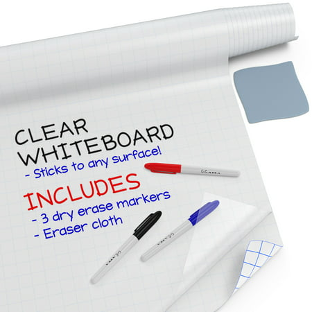 Kassa Clear Dry Erase Board Sticker - 18