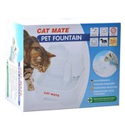 Cat Mate Pet Fountain - White 10.5L x 6.8W x 8.8H (70 Ounces)