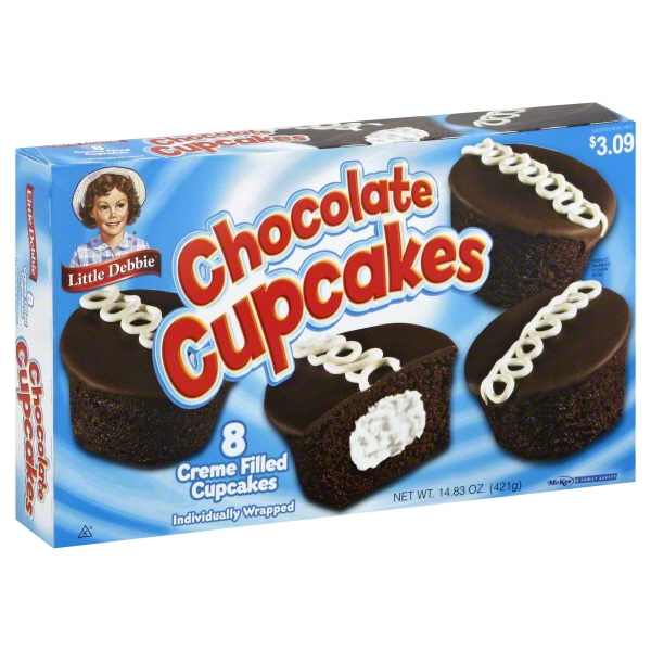 Little Debbie Family Pack Chocolate Cupcakes, 14.83 oz