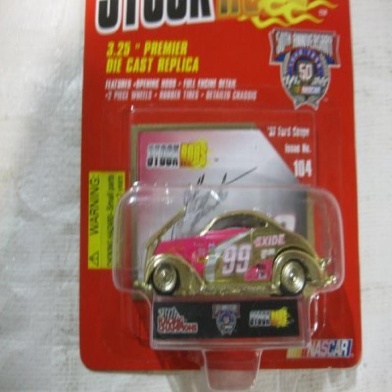 #99 Jeff Burton Exide Racing Team Gold Tone '37 Ford Coupe Issue #104 Die-Cast Replica... by