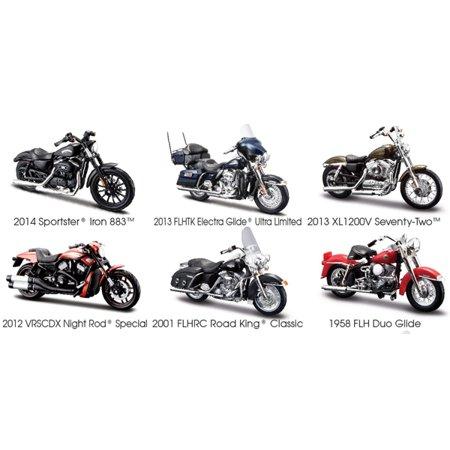 Harley Davidson Motorcycle 6pc Set Series 33 1/18 Diecast