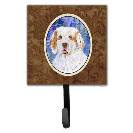 Caroline's Treasures Clumber Spaniel Leash Holder and Wall Hook