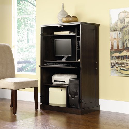 Sauder Computer Armoire Multiple Finishes Walmart Com