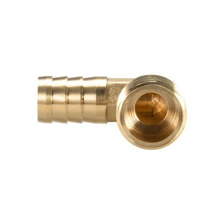 "Brass Barb Hose Fitting 90 Degree Elbow 14mm Barbed x 1/2"" G Male Pipe 2pcs - image 1 of 5"