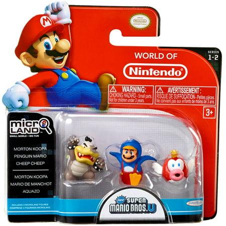 Morton Koopa, Penguin Mario & Cheep Cheep Mini Figure