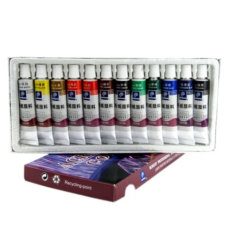 Acrylic Paint,12 Colors Professional Artist Quality Acrylic Paint Set Oil Paints