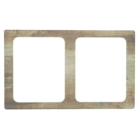 Cold Food Display Tile 1/2 Size Reclaimed Wood Melamine Cold Tile - 21