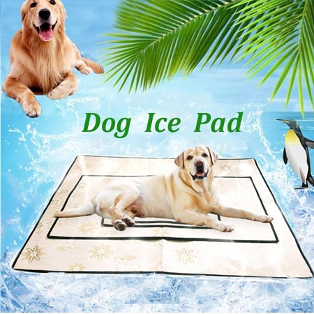 Mrosaa 4 Size Pet Dog Cooling Mat Self Cooling Pad Mat Heat Relief Cushion Comfort for Cats and